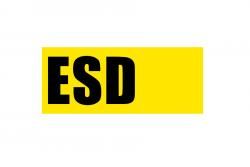 ESD taśma podłogowa z tekstem