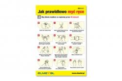 Instrukcja mycia rąk - naklejka BHP