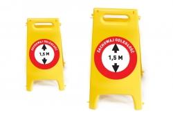 Potykacz informacyjny zachowaj odległość 1,5 m POT2
