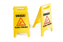 Potykacz ostrzegawczy. Uwaga! Śliska podłoga POT4