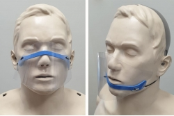 Półprzyłbica ochronna - minimaska ochronna na twarz