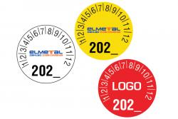 Naklejki kontrolne przeglądowe typ 1 logo