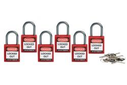 Kompaktowe kłódki bezpieczeństwa LOTO szekla 25 mm