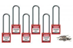 Kompaktowa kłódka bezpieczeństwa LOTO szekla 75 mm