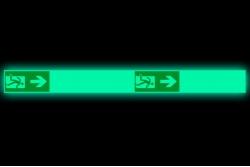 Naklejka podłogowa fotoluminescencyjna droga ewakuacyjna