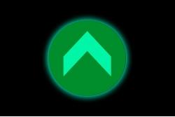Naklejka podłogowa fotoluminescencyjna kółko strzałka zielona