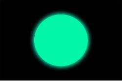 Naklejka podłogowa fotoluminescencyjna kółko