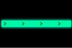 Naklejka podłogowa fotoluminescencyjna strzałka