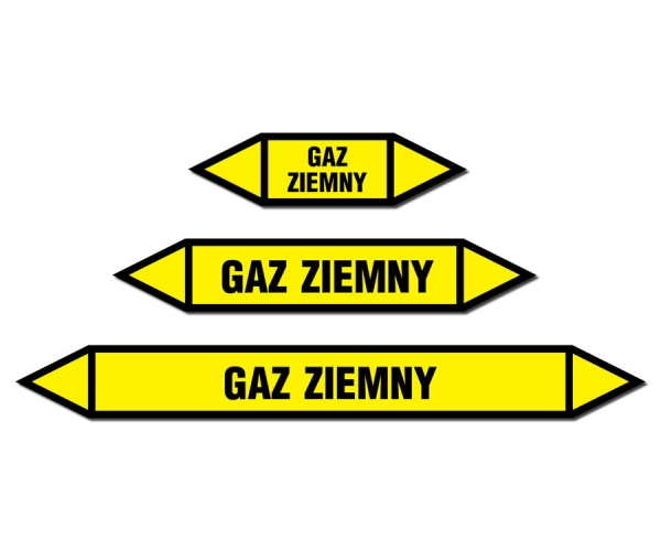 Gaz ziemny strzałka do oznakowania rurociągów