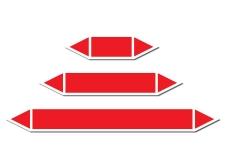 Czerwona strzałka do oznakowania rurociągów