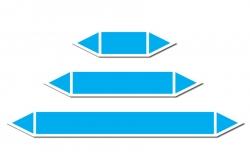 Niebieska strzałka do oznakowania rurociągów