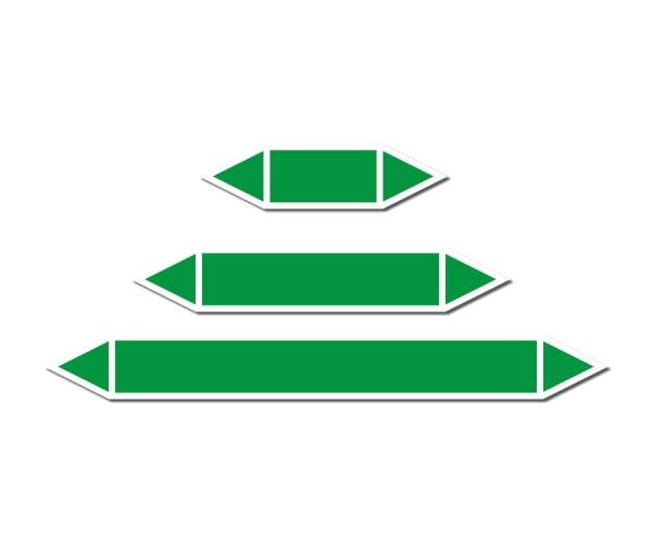 Zielona strzałka do oznakowania rurociągów