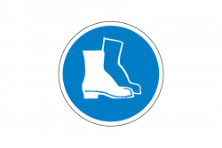 Nakaz ochrony stóp naklejka podłogowa