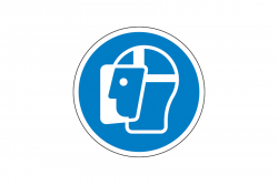 Nakaz ochrony twarzy naklejka podłogowa