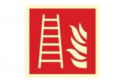 Drabina pożarowa - znak przeciwpożarowy BHP