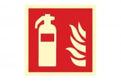 Gaśnica - znak przeciwpożarowy BHP