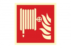 Hydrant wewnętrzny - znak przeciwpożarowy BHP
