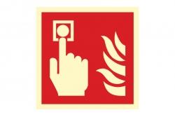 Alarm pożarowy - znak przeciwpożarowy BHP