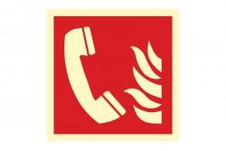Telefon alarmowania pożarowego - znak BHP