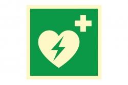 Defibrylator AED - znak ewakuacyjny BHP