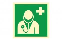 Lekarz - znak ewakuacyjny BHP