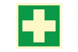Pierwsza pomoc medyczna - znak BHP