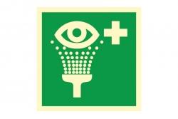 Prysznic do przemywania oczu -  znak BHP