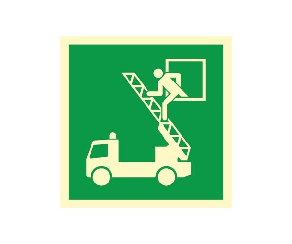Okno ratunkowe - znak ewakuacyjny BHP
