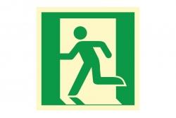 Wyjście ewakuacyjne lewostronne - znak ewakuacyjny