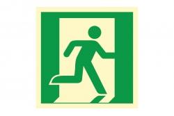 Wyjście ewakuacyjne prawostronne - znak ewakuacyjny