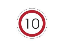 Ograniczenie prędkości naklejka podłogowa